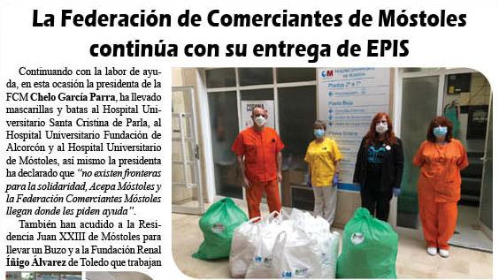 La FCM continua con su entrega de EPIS