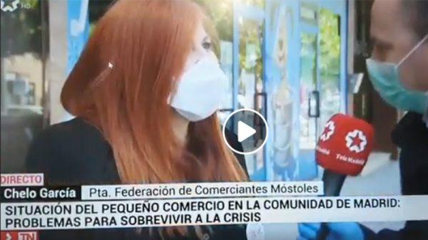 Situación del Pequeño Comercio durante el Confinamiento entrevista en Telemadrid